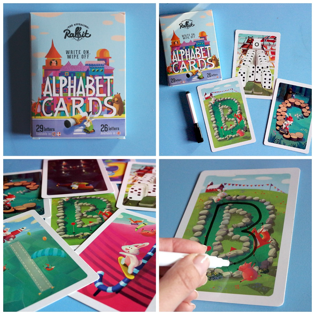 The appealing rabbit alphabet cards