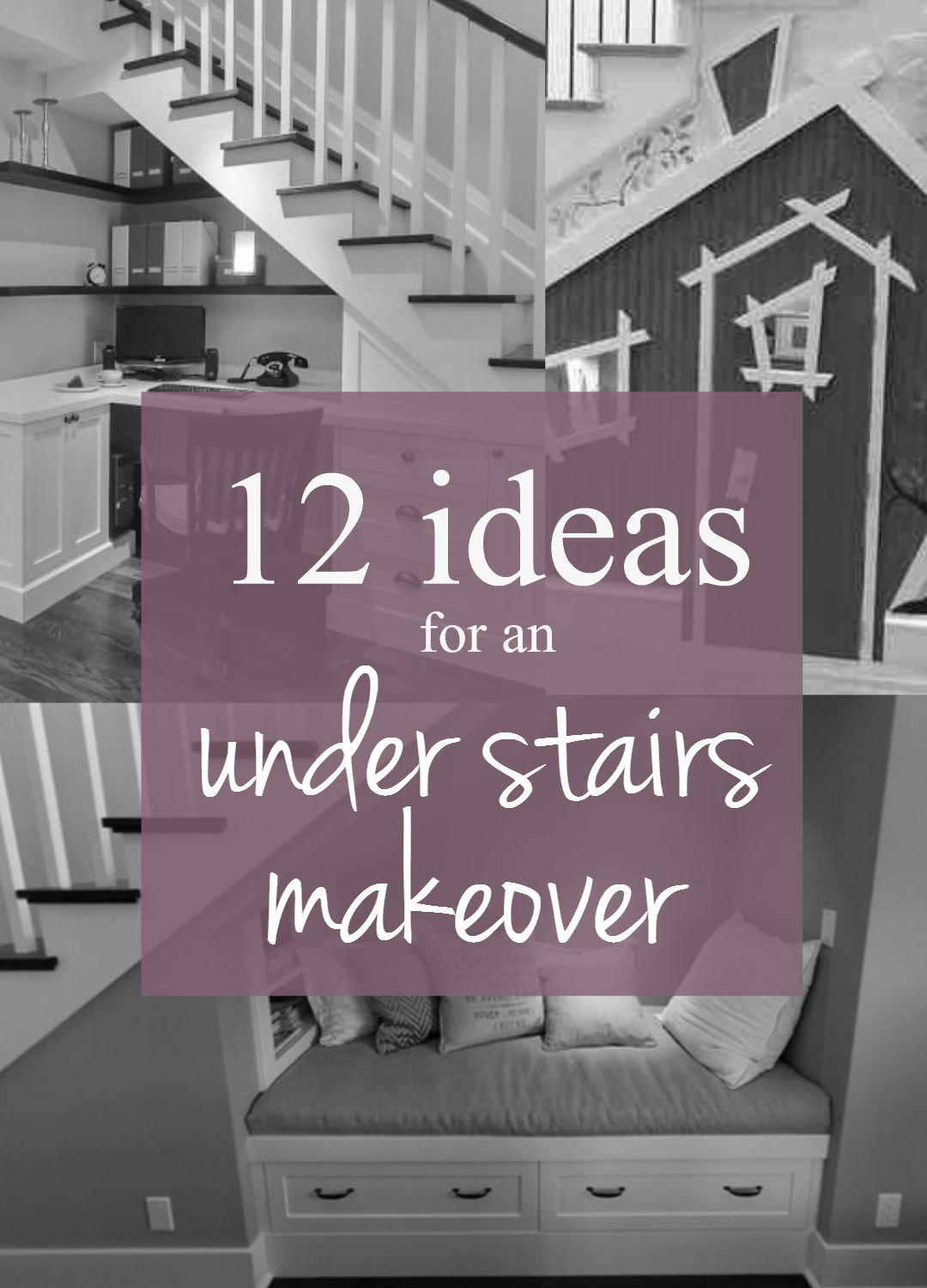 12 ideas for an under stairs makeover from TheEssexBarn.com