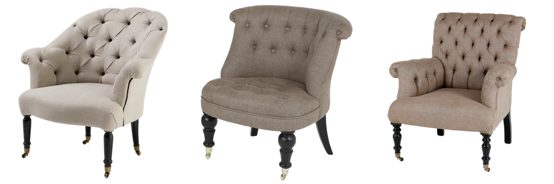 Button back chairs from Black Orchid Interiors