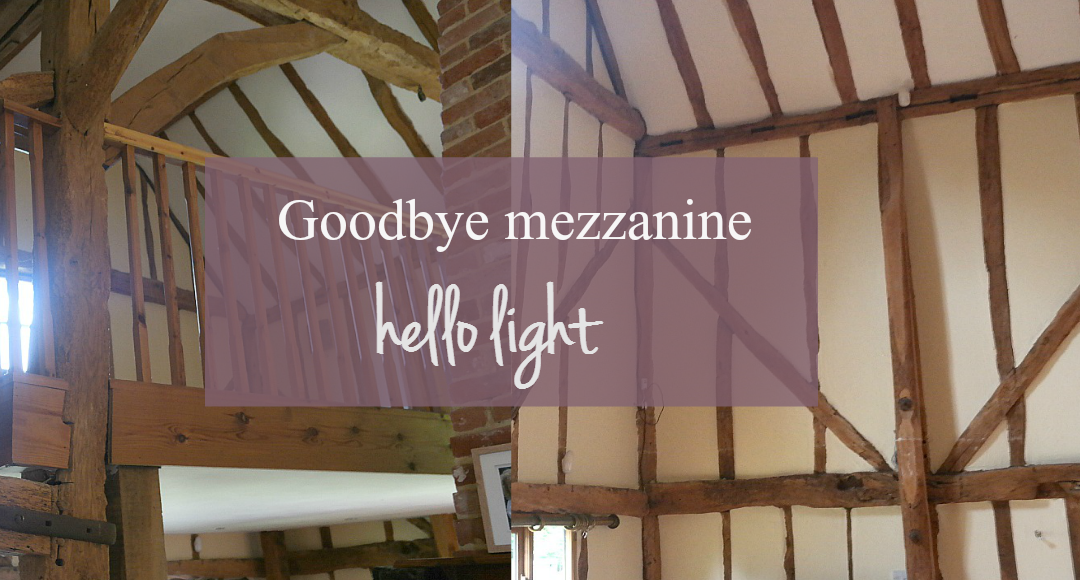 Goodbye mezzanine - hello light at The Essex Barn