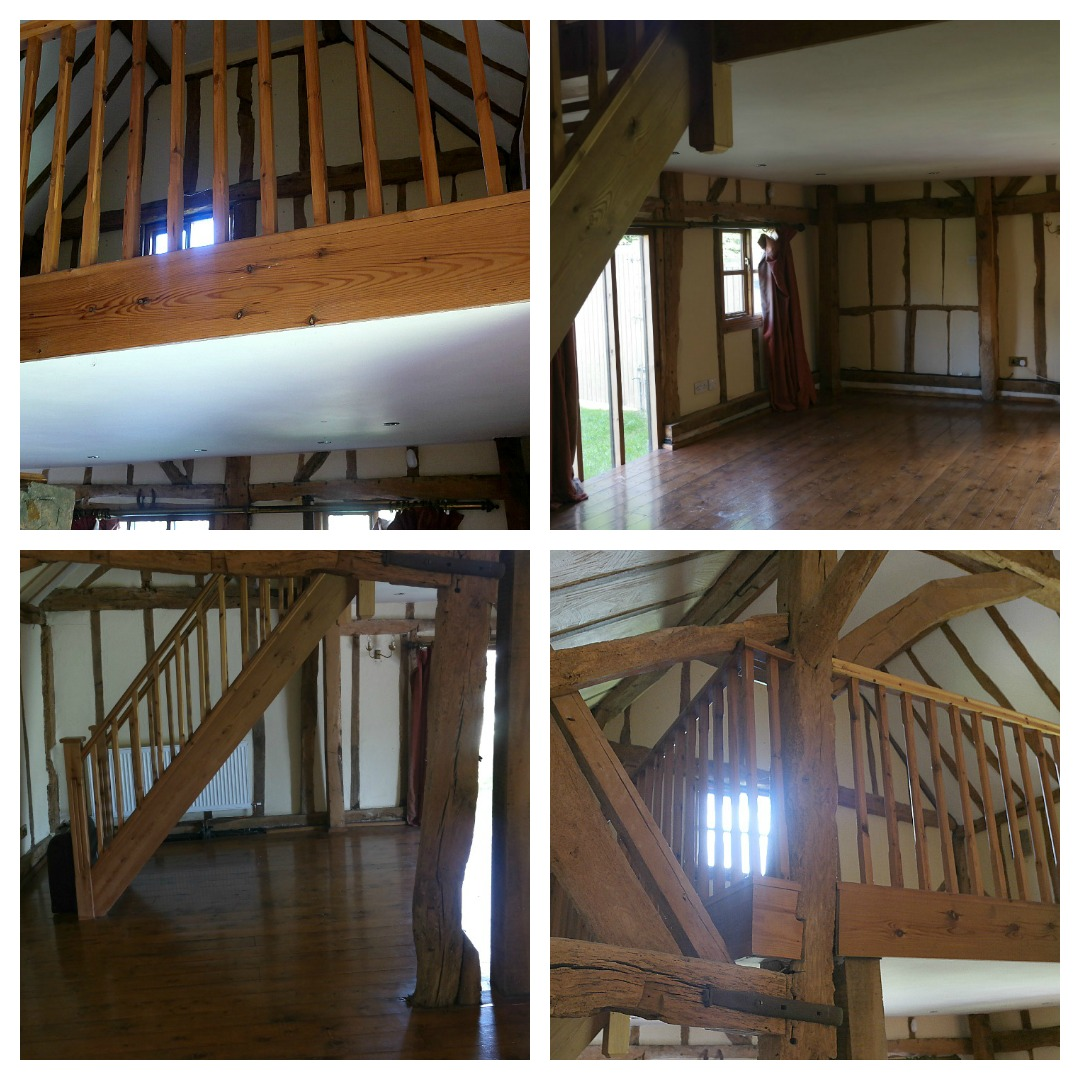 The Essex Barn mezzanine before removal