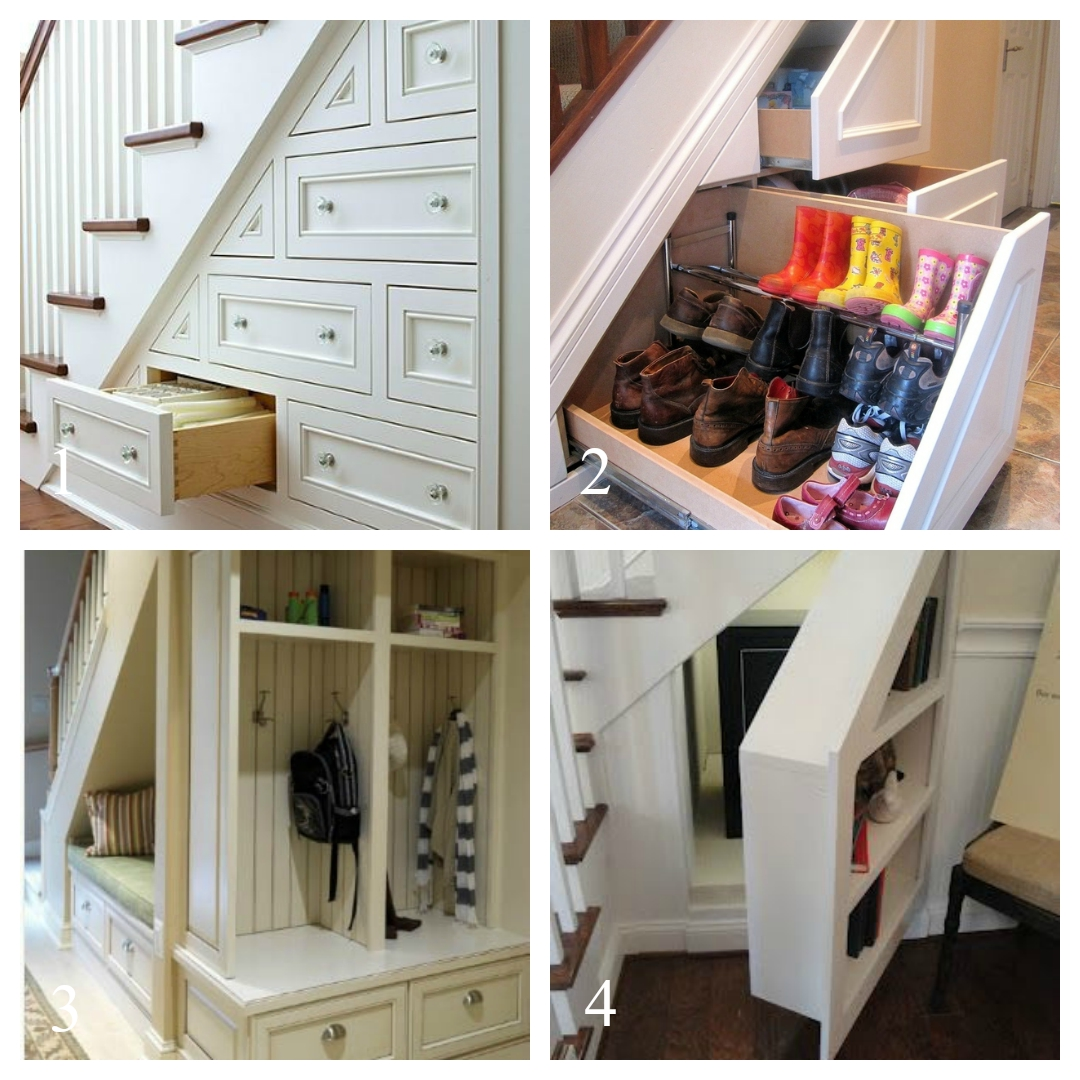 12 ideas for an under stairs makeover the essex barn for In house storage solutions