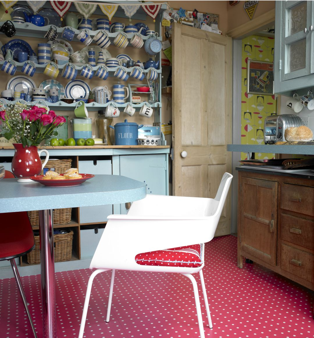 Harvey Maria Cath Kidston Spot Red Kitchen