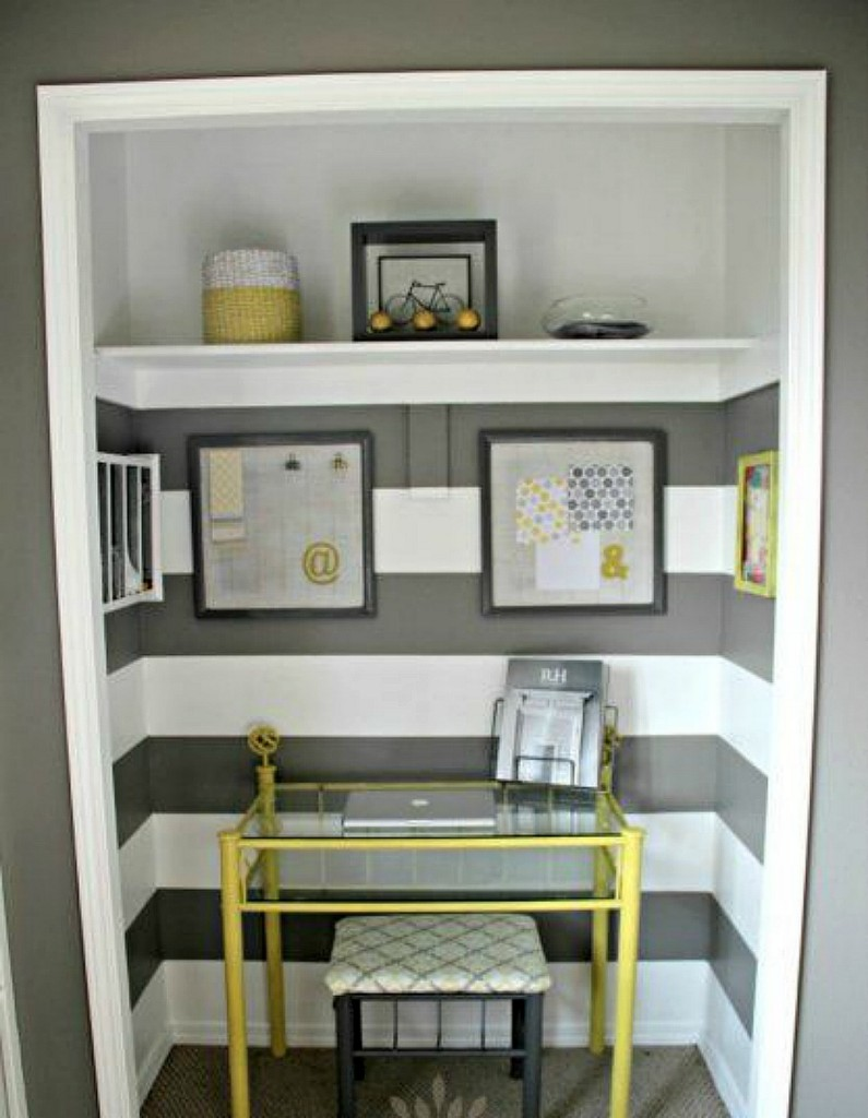 Closet home office colour block - TheEssexBarn.com