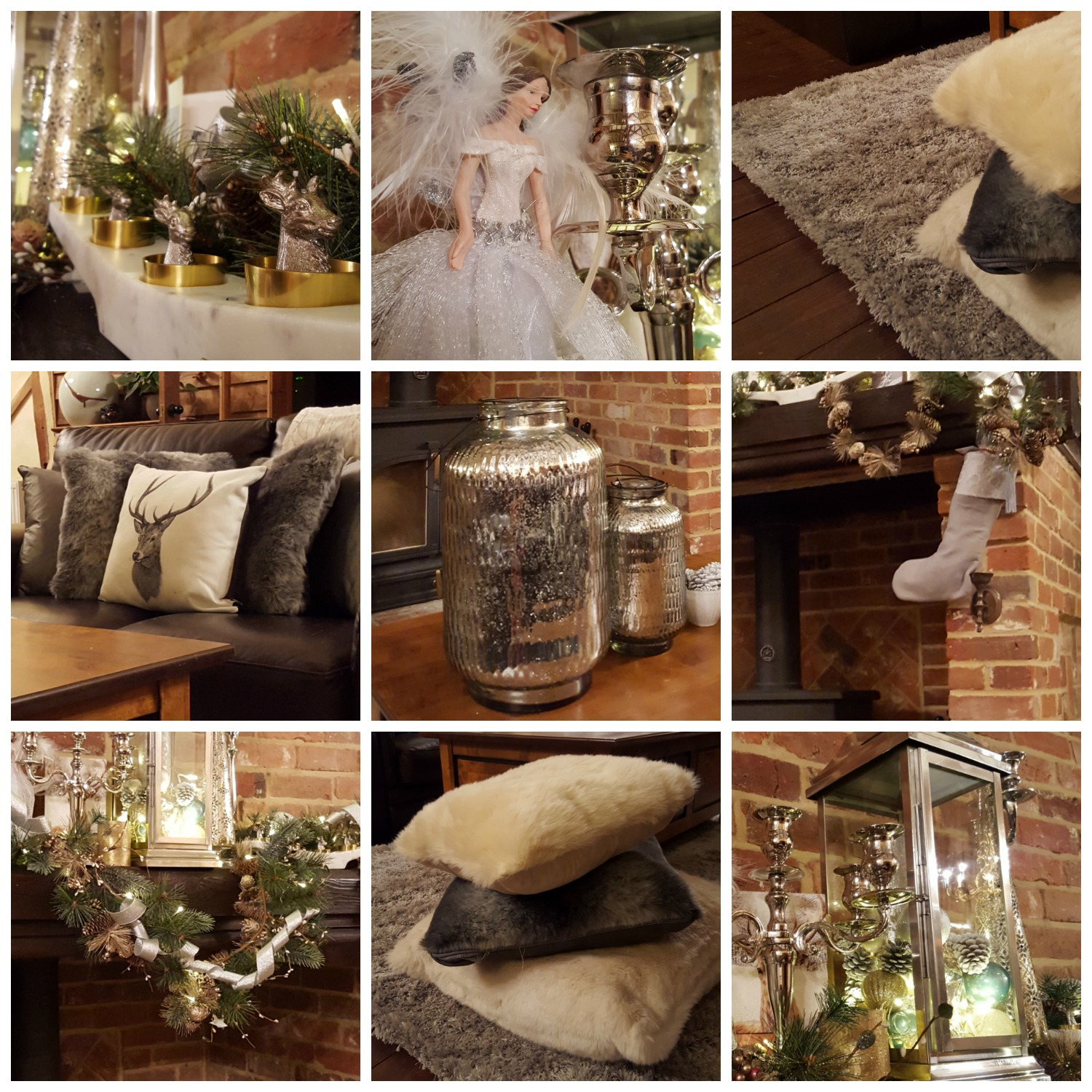 Some of my favourite items from our Christmas fireplace