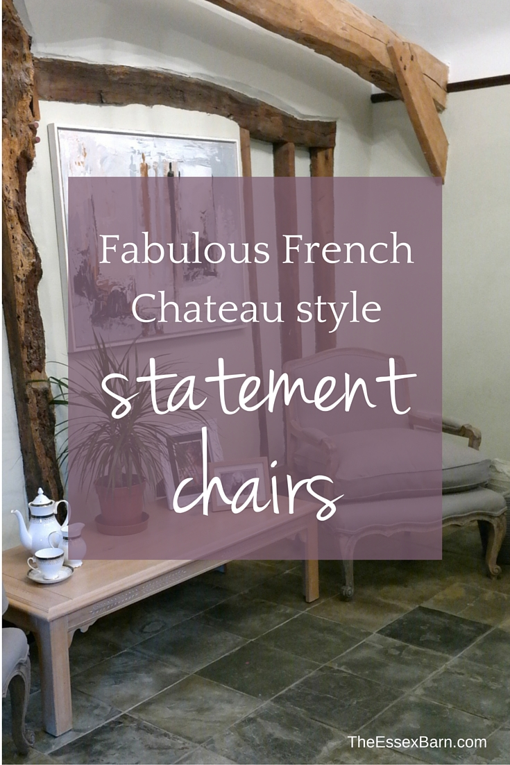 Fabulous French Chateau Style Statement Chairs at TheEssexBarn.com