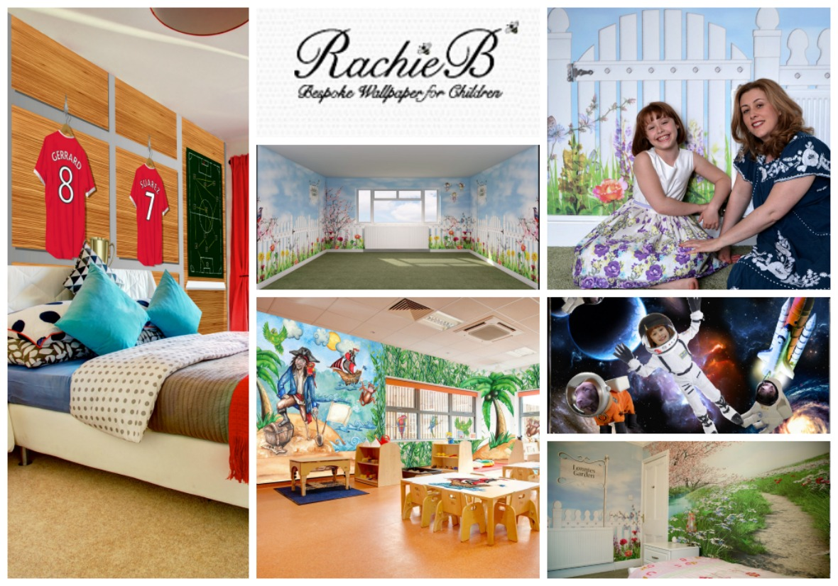 Rachie B Designs bespoke wallpaper at The Essex Barn