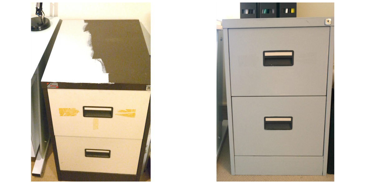 Filing cabinet makeover at TheEssexBarn.com