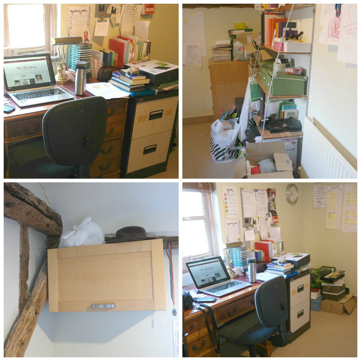 Home office makeover with Wayfair - BEFORE